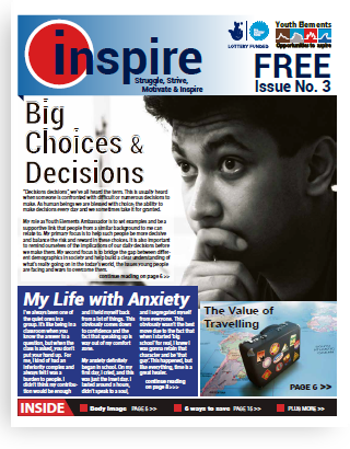 Inspire magazine written by unemployed young adults